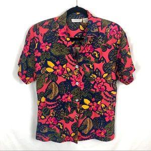 Vintage Nordstrom Hawaiian Floral Button Down